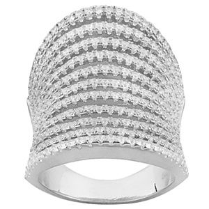 Jewelry - Cubic Zirconia Sterling Silver Ring 3.16ctw